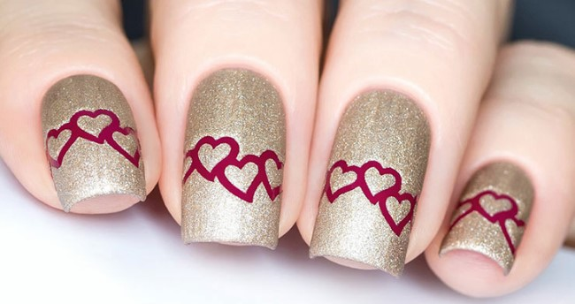 valentines day nail design 1