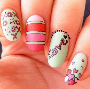 valentines day nail design 10 1