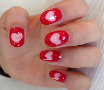 valentines day nail design 12