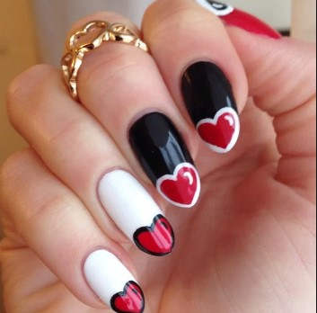 valentines day nail design 18