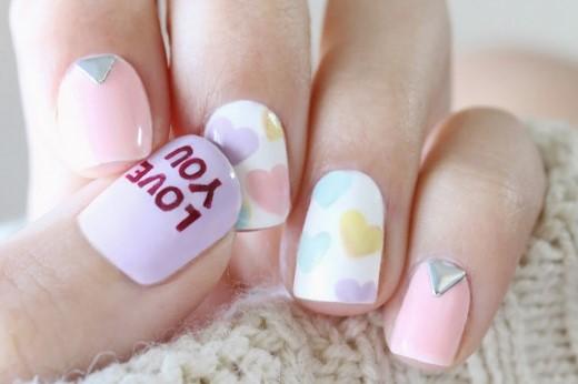valentines day nail design 2