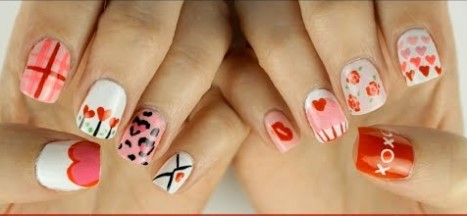 valentines day nail design 22