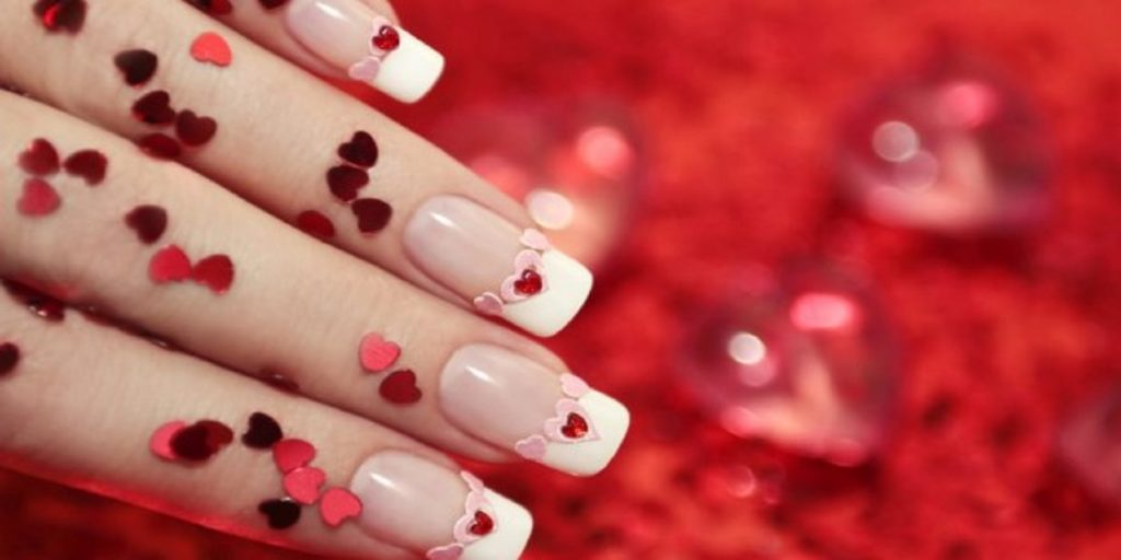 valentines day nail design 23