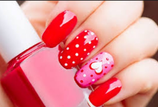 valentines day nail design 24