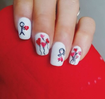 valentines day nail design 7