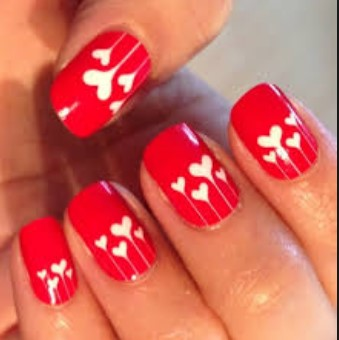 valentines day nail design 9