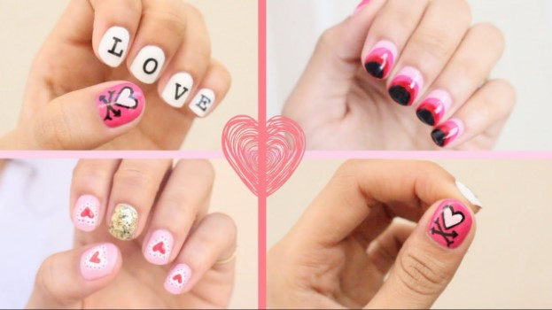 valentines day nail design cover