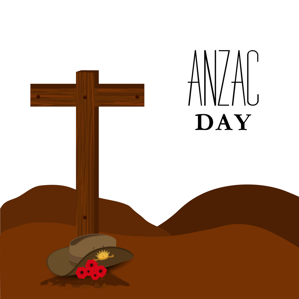 Anzac day grave image
