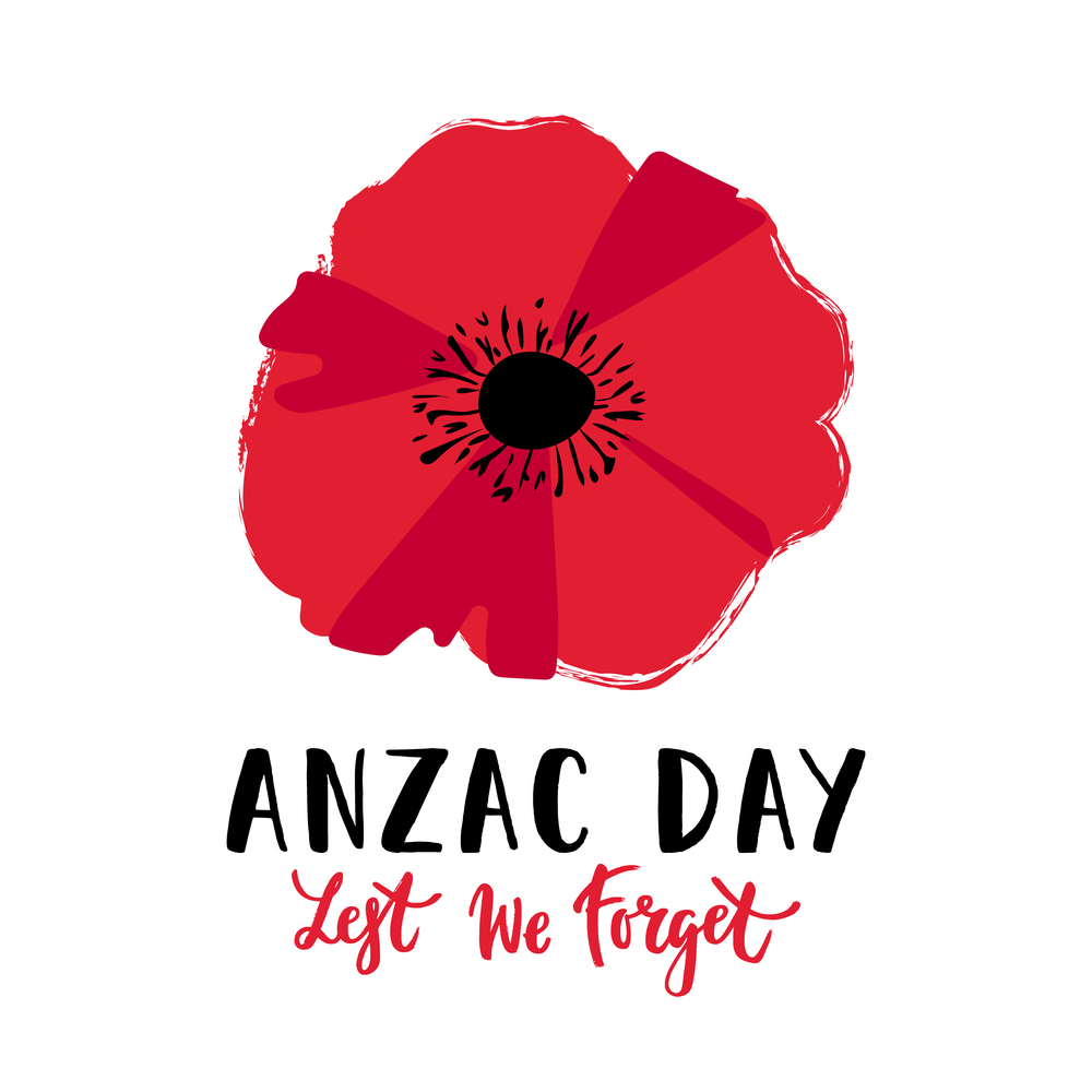 Anzac day images with flower