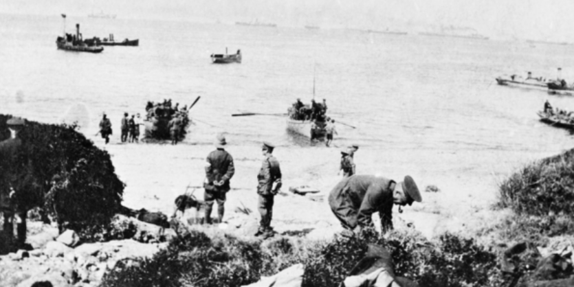 Gallipoli Campaign soldier are taken to boat images