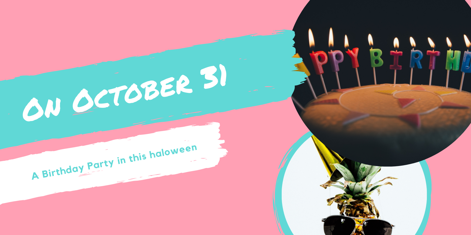 On October 31 halloween birthday party