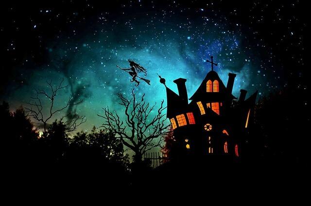 halloween haunted house dark