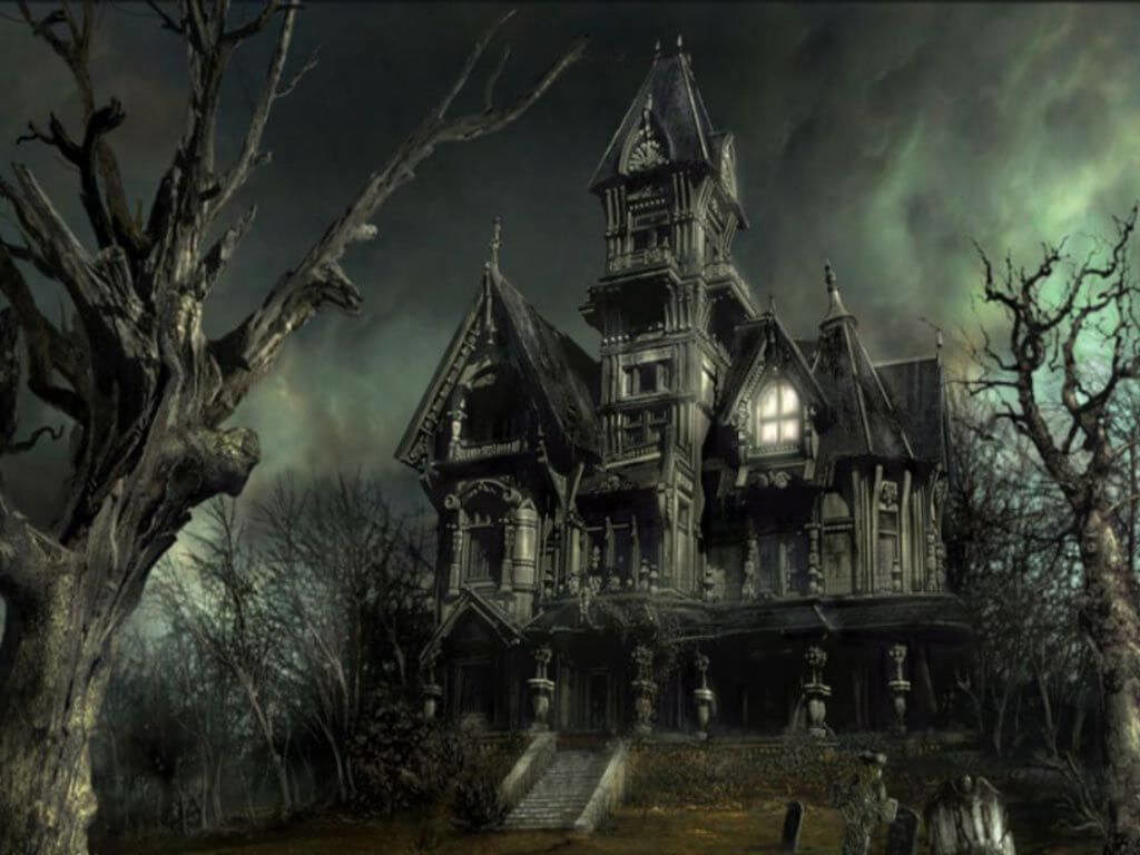 halloween haunted house scary