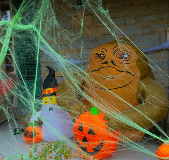 halloween house garaze decor