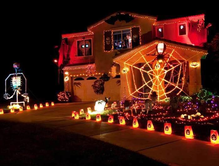 halloween lights house