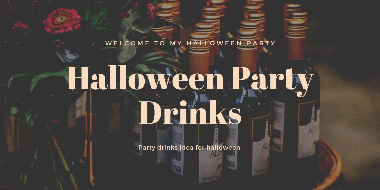 halloween party drinks idea