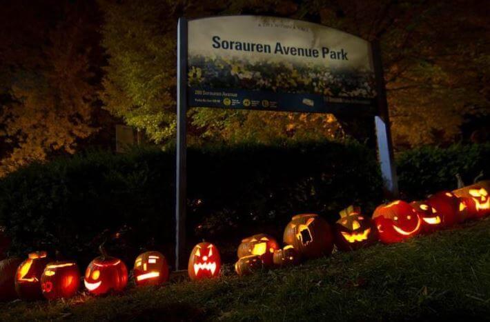 halloween pumpkin lighting